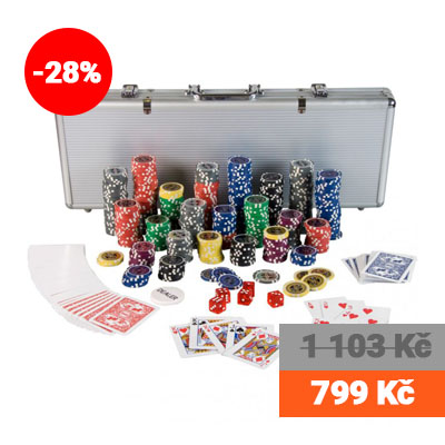 Poker set 500 ks žetonů Ultimate