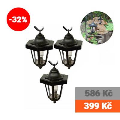 Sada 3 zahradních LED luceren