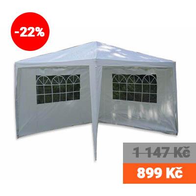 Zahradní párty stan + 2 boční stěny bílý, 3 x 3 m